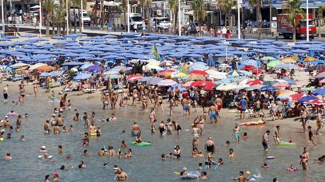 Playa de Levante, en Benidorm (Alicante)