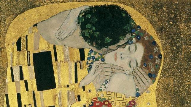 «El beso», de Gustav Klimt. Detalle
