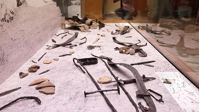 Imagen del conjunto de armas pertenecientes a guerreros iberos