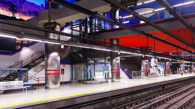 Interior del metro de Madrid