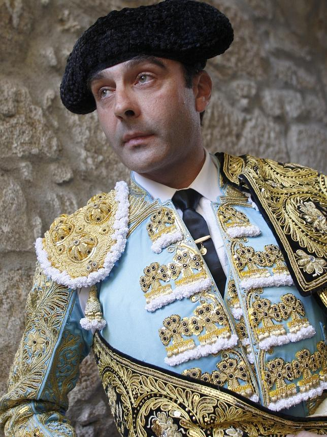 Enrique Ponce, en el patio de cuadrillas de Pontevedra