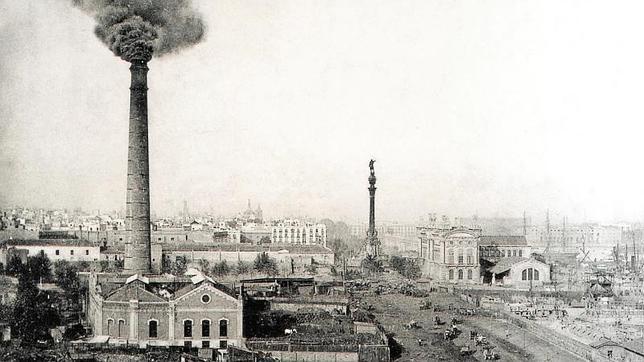 La chimena del paralelo, en Barcelona, se levantó en 1896 para dar fuerza a una ciudad que empezaba una urbanización acelerada