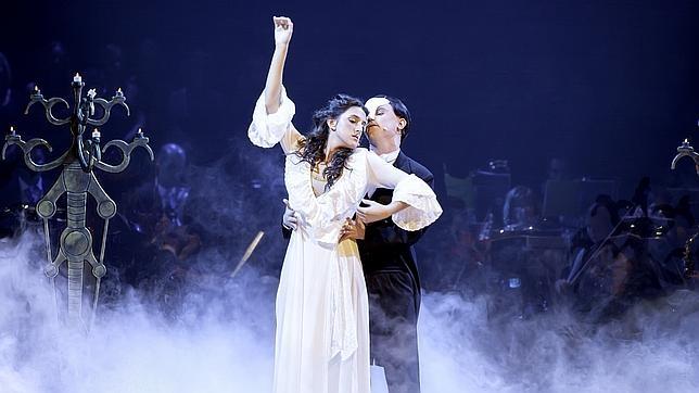Representación del musical «El fantasma de la ópera» en el teatro Compac Gran Vía