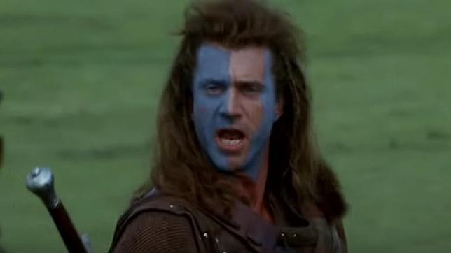 Mel Gibson, que interpretó a William Wallace en la gran pantalla, durante una escena de la película «Brave Heart»