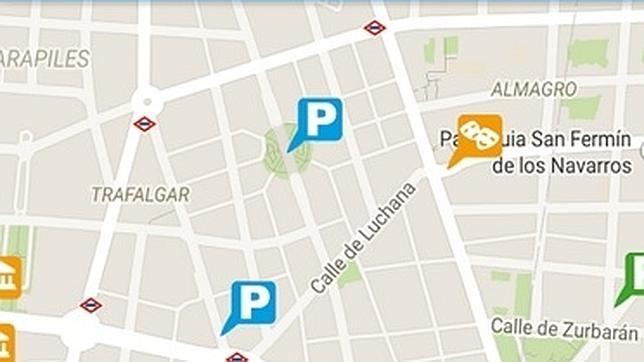 Imagen de la aplicación «parking madrid», disponible en la capital