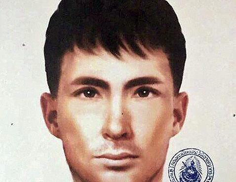 Fotografía facilitada por la Policía tailandesa que muestra el retrato robot del sospechoso de nacionalidad turca que podría estar implicado en el atentado del pasado 17 de agosto en el templo de Erawan en Bangkok