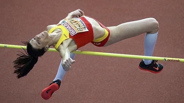 Ruth Beitia en acción
