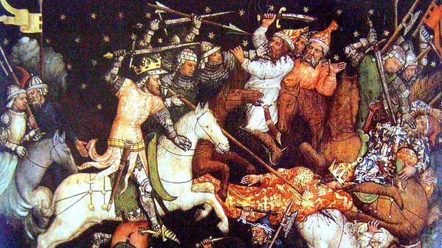 Luis I de Hungría contra los guerreros otomanos en Bulgaria.