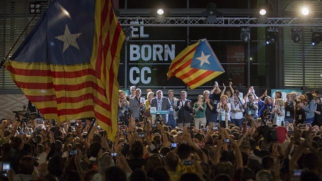 Imagen de las elecciones catalanas en la zona de Junts Pel Si