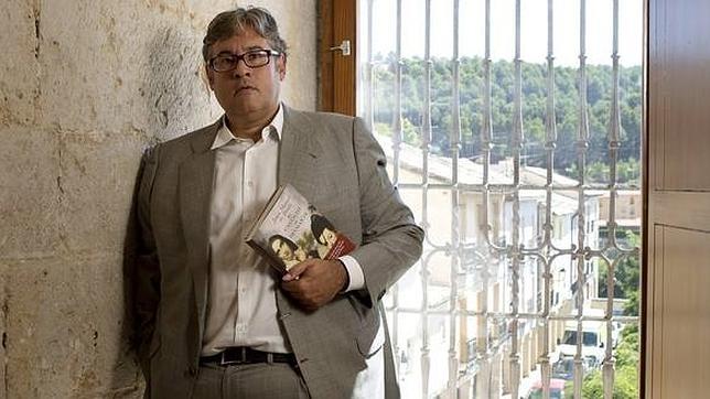 Prada, durante la presentación de su novela en Valladolid