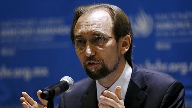 El alto comisionado de la ONU, Zeid Ra'ad Al Hussein