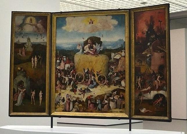 «El carro de heno», de El Bosco, ha viajado desde el Museo del Prado hasta Róterdam