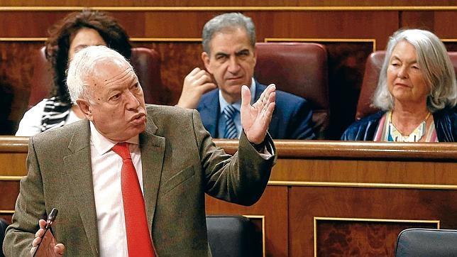 El ministro de Asuntos Exteriores, José Manuel García Margallo, en el Congreso