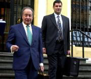 Villar Mir y Hans Bubeck, director general de EnBW, explicaron ayer su oferta al presidente del Principado, Álvarez Areces. Efe