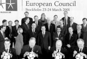 Los líderes de la UE, en una distendida foto de familia durante la última cumbre europea, celebrada en Estocolmo. ABC