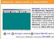 Aspecto de la página de presentación en Internet