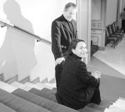 Peter Stein y Maddalena Crippa, fotografiados en Málaga. EFE