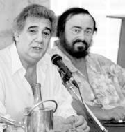 Plácido Domingo y Pavarotti alzarán su voz por la paz