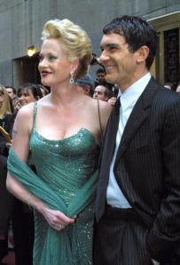 Antonio Banderas y Melanie Griffith a su llegada a la ceremonia