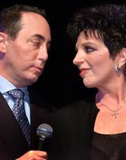 Liza Minnelli con su ya cuarto ex marido, David Gest