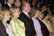 ABC  Los Reyes, rodeados por la ministra de Sanidad, Elena Salgado; la presidenta de la Comunidad de Madrid, Esperanza Aguirre, y  el presidente del Tribunal Supremo, Francisco José Hernando, guardan un minuto de silencio por las víctimas de Valencia