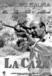 ABC  Cartel de «La caza», película-metáfora en la que Carlos Saura, sin citar de forma expresa la Guerra Civil española, muestra una intención inequívoca