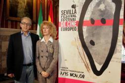 FELIPE GUZMÁN  Javier Martín-Domínguez y Maribel Montaño, ayer en la presentación de la programación