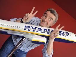 El máximo responsable de la compañía, Michael O'Leary anunció esta semana nuevas rutas aéreas de Ryanair en Italia. / Archivo