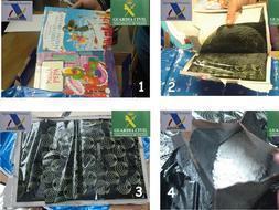 Intentan introducir casi un kilo de cocaína en pastas de libros infantiles
