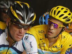 Contador y Armstrong se citan en el Algarve