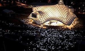 Maider López «ilumina» la inauguración del Pompidou-Metz