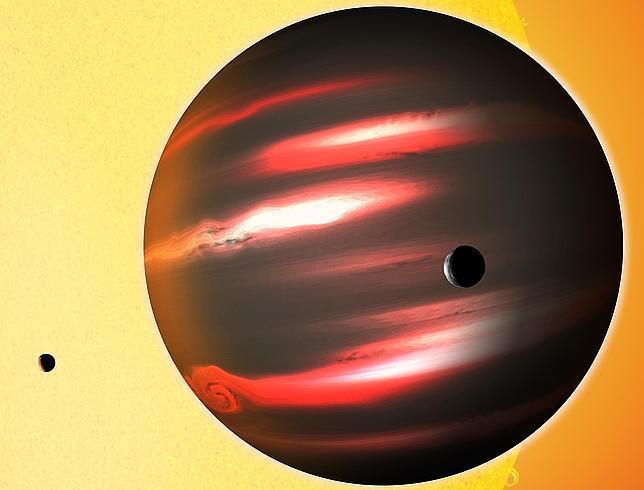 Un planeta más negro que el carbón
