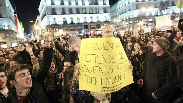 Las protestas estudiantiles del martes acaban sin detenidos