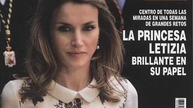 Doña Letizia, sobresaliente en su papel como Princesa