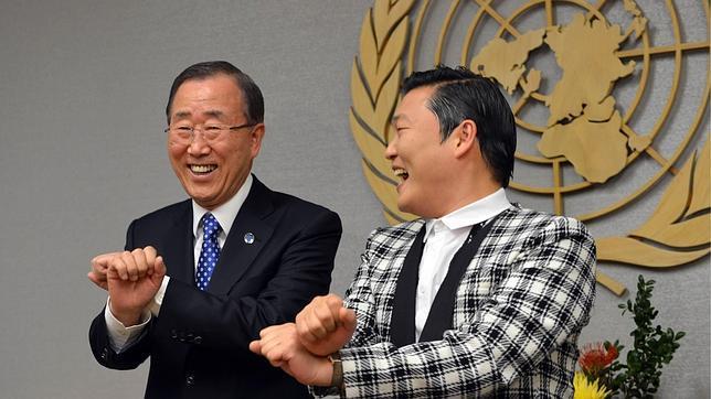 Ban Ki-moon siente «celos» del éxito del rapero PSY y su «Gangnam Style»
