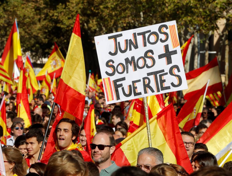 La manifestación de Barcelona por la unidad de España, en imágenes