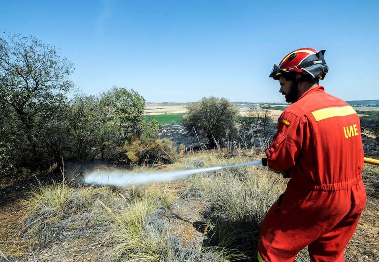 Las imágenes más destacadas del incendio que mantiene en vilo a Toledo y Madrid