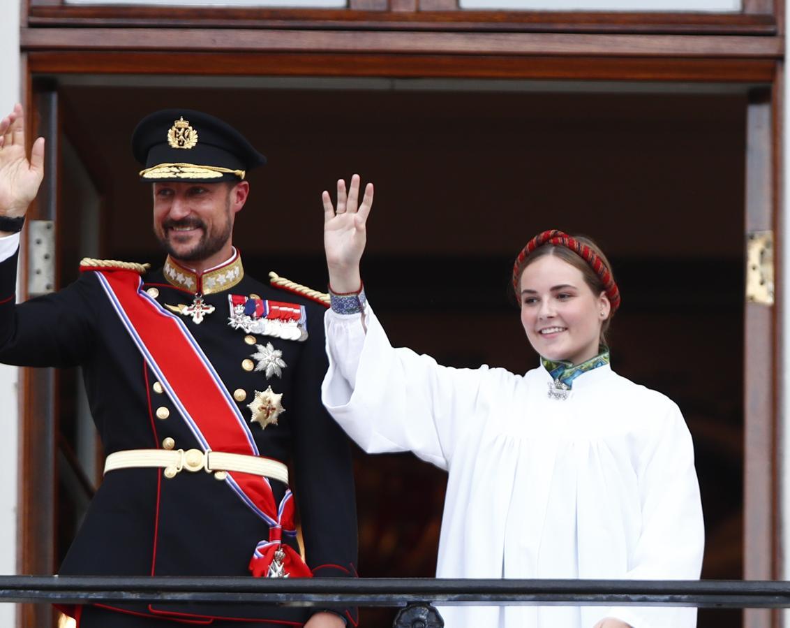 La Princesa Ingrid Alexandra y el Príncipe Haakon de Noruega