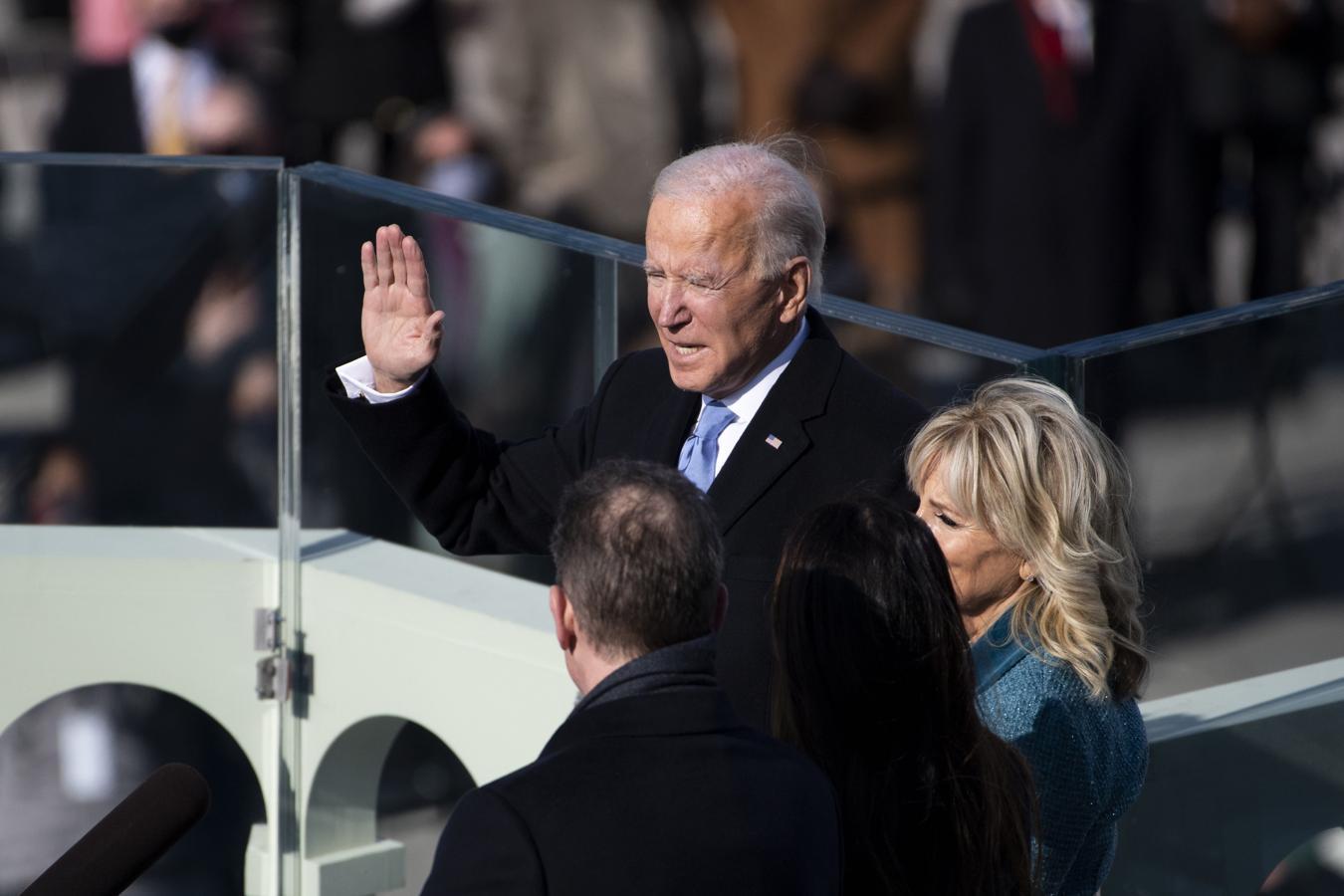 Momento en el que Joe Biden ha jurado como presidente