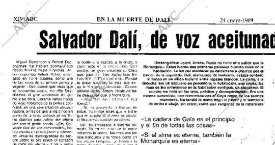 La última entrevista a Dalí de Ansón