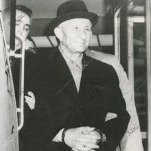 El jefe de la Mafia Carlo Gambino, tras haber sido detenido