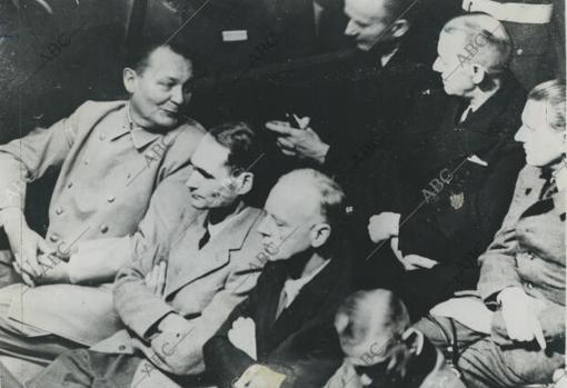 Dönitz, durante los juiciios de Núremberg