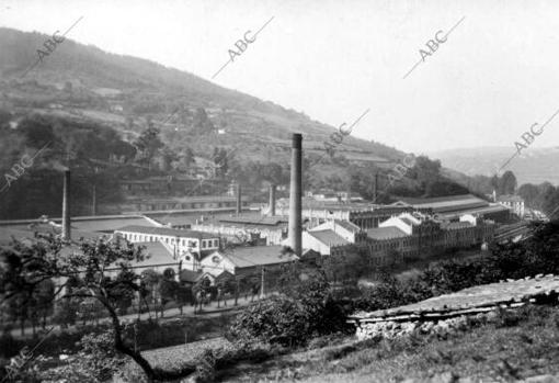General view of the cannon factory in the town of Trubia (Asturias)