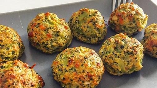 Albóndigas de brócoli.