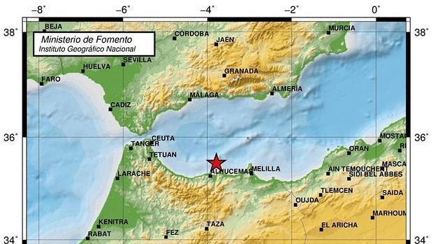 Seísmo registrado en Melilla