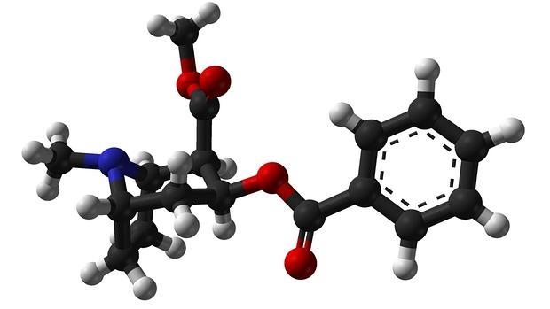 Estructura química de la molécula de la cocaína