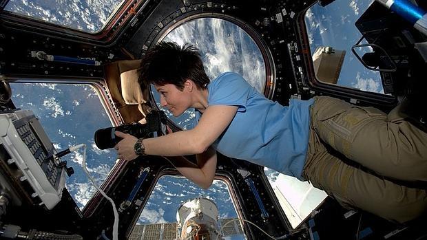 La astronauta Samantha Cristoforetti durante su estancia en la Estación Espacial Internacional (ISS)
