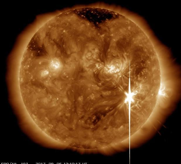 La llamarada solar X.9