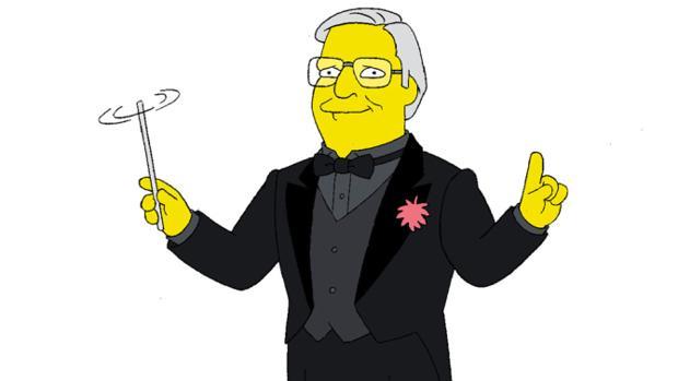 Alf Clausen, «simpsonizado»