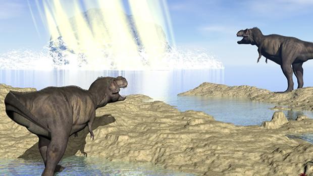 Recreación del impacto del asteroide que acabó con los dinosaurios